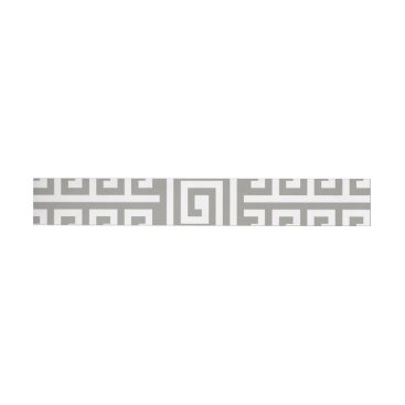 Aztec Themed Gray And White Houndstooth With Spirals Wrap Around Address Label