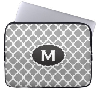 Gray  and white  laptop bag
