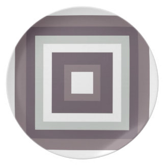 Gray and White Melamine Plate