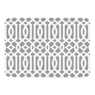 Gray and White Modern Trellis Pattern Card