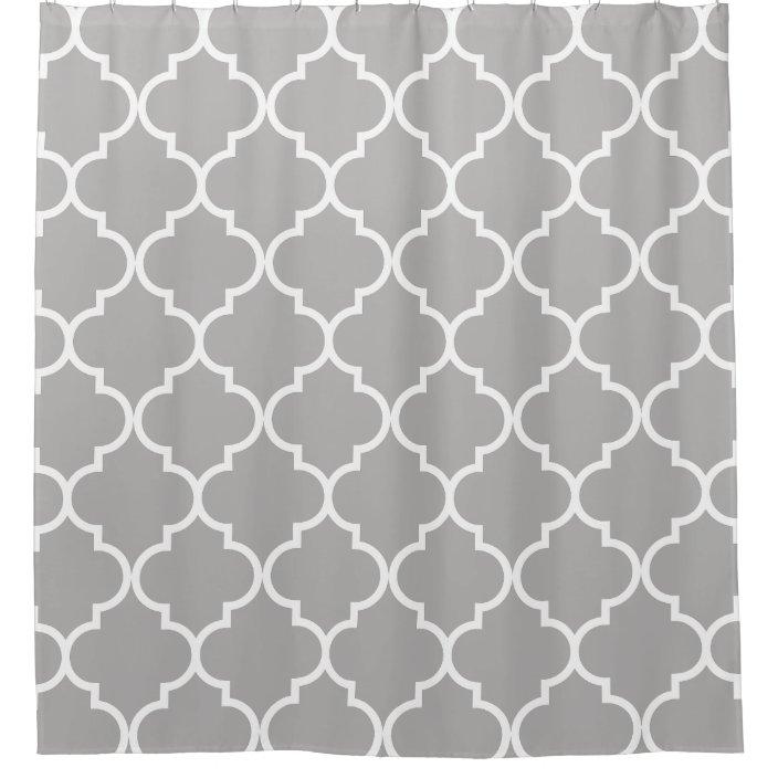 Gray And White Moroccan Trellis