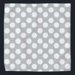 """Gray and White Polka Dot Bandana<br><div class=""""desc"""">This cute bandana is the perfect accessory for you,  your child or your favorite dog.</div>"""