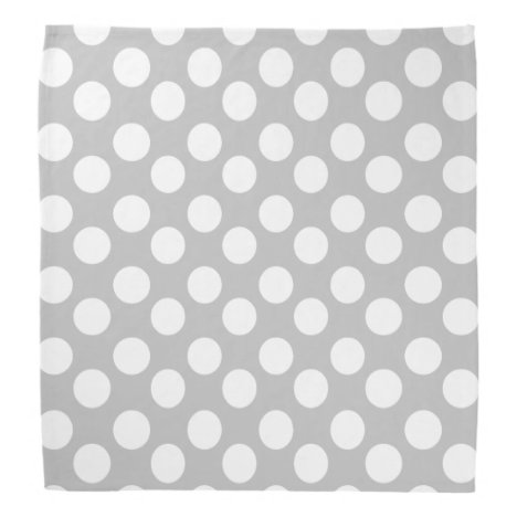 Gray and White Polka Dot Bandana