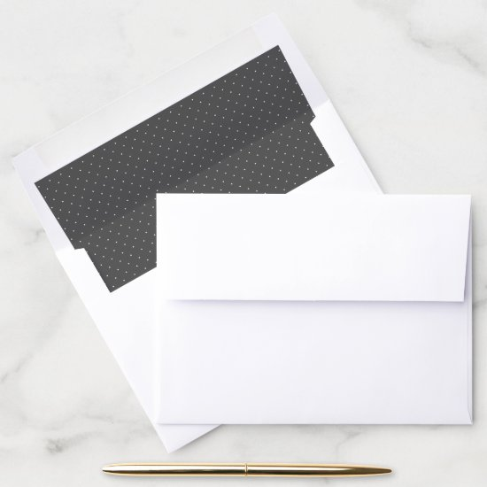 Gray and White Polka Dot Envelope Liner