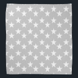 """Gray and White Star Pattern Bandana<br><div class=""""desc"""">This cute bandana is the perfect accessory for you,  your child or your favorite dog.</div>"""