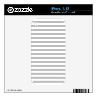 Gray and White Stripe Pattern Skins For iPhone 4S