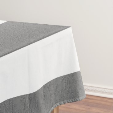 Beach Themed Gray and White Striped Custom Tablecloth
