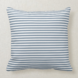 Gray And White Striped Throw Pillow