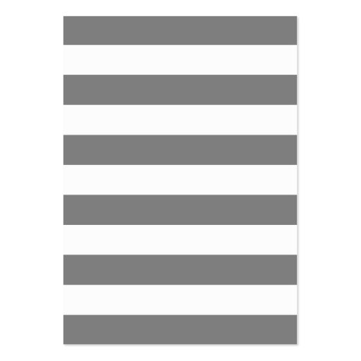 Gray and White Stripes Large Business Cards (Pack Of 100)