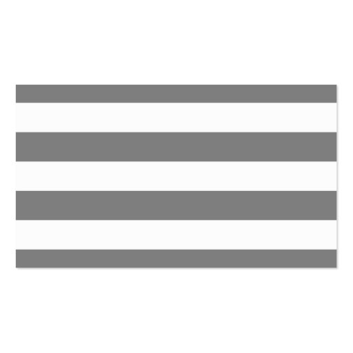 Gray and White Stripes Double-Sided Standard Business Cards (Pack Of 100)