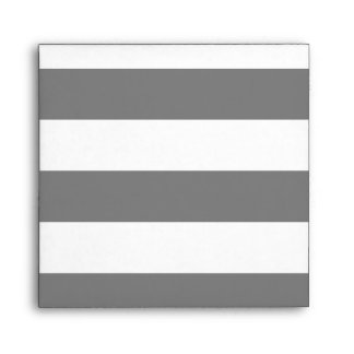 Gray and White Stripes Envelope