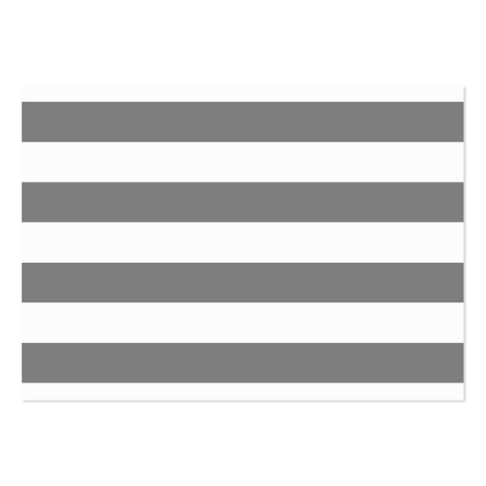 Gray and White Stripes Large Business Card