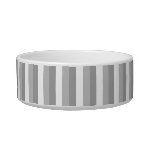 Gray and white stripes. Pattern. Cat Water Bowl
