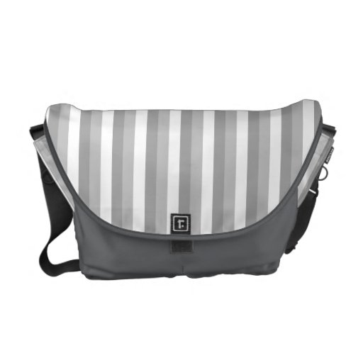 Gray and white stripes. Pattern. Courier Bag