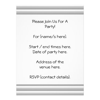 Gray and white stripes Pattern Personalized Announcements