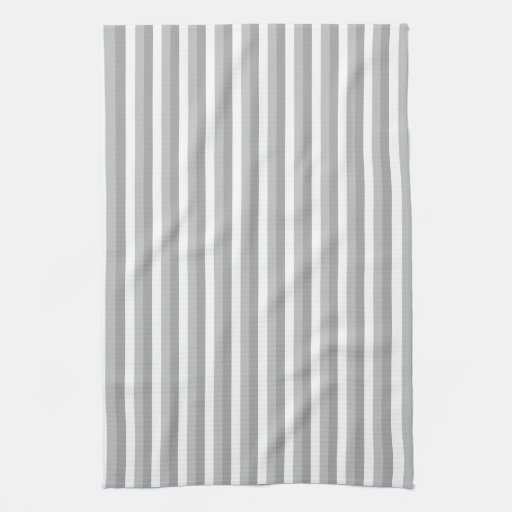 White Kitchen Towel: Gray And White Stripes. Pattern. Kitchen Towels