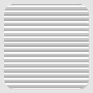 Gray and white stripes. Pattern. Square Sticker