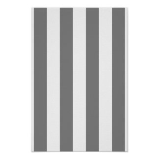 Gray and White Stripes Poster