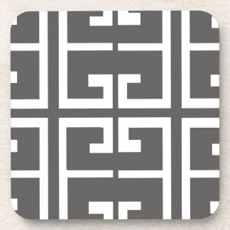Gray and White Tile Coaster