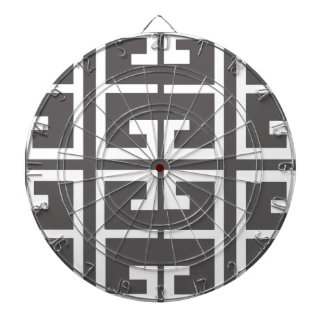 Gray and White Tile Dartboard With Darts