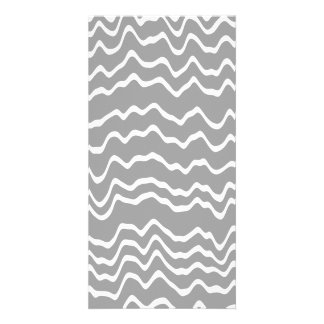 Gray and White Wave Pattern. Card