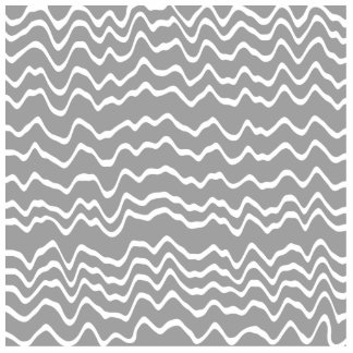 Gray and White Wave Pattern. Cut Outs