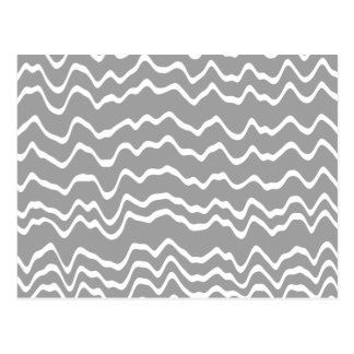 Gray and White Wave Pattern. Postcard