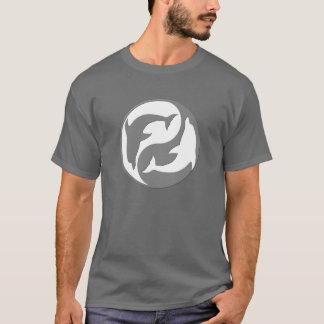 Gray And White yin Yang Dolphins Shirt