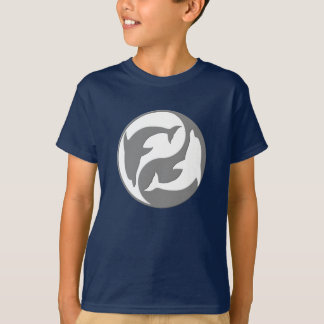 Gray And White yin Yang Dolphins Shirt