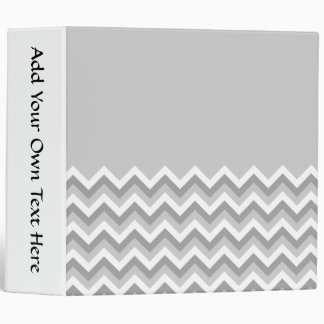 Gray and White Zig Zag Pattern. Part Plain Gray. Binder