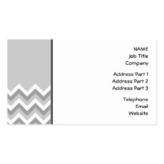 Gray and White Zig Zag Pattern. Part Plain Gray. Double-Sided Standard Business Cards (Pack Of 100)