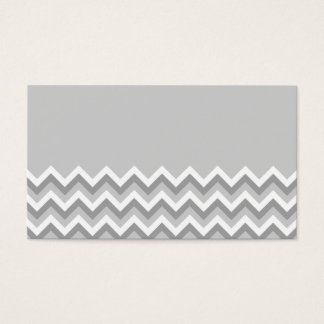 Gray and White Zig Zag Pattern. Part Plain Gray. Business Card