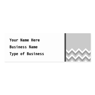 Gray and White Zig Zag Pattern. Part Plain Gray. Double-Sided Mini Business Cards (Pack Of 20)