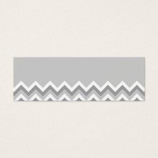 Gray and White Zig Zag Pattern. Part Plain Gray. Mini Business Card