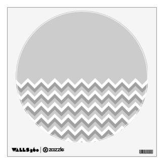 Gray and White Zig Zag Pattern. Part Plain Gray. Wall Decor