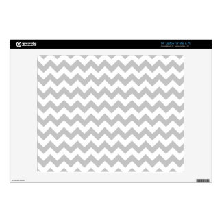 "Gray and White Zigzag Chevron Pattern 14"" Laptop Decal"