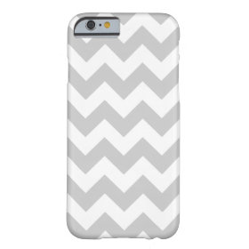 Gray and White Zigzag Chevron Pattern Barely There iPhone 6 Case
