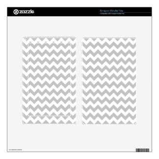 Gray and White Zigzag Chevron Pattern Kindle Fire Decals