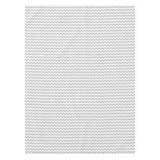 Gray and White Zigzag Chevron Pattern Tablecloth