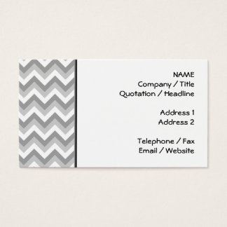 Gray and White Zigzag Pattern. Business Card
