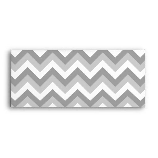 Gray and White Zigzag Pattern. Envelopes