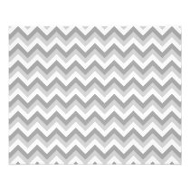 Gray and White Zigzag Pattern. Flyer