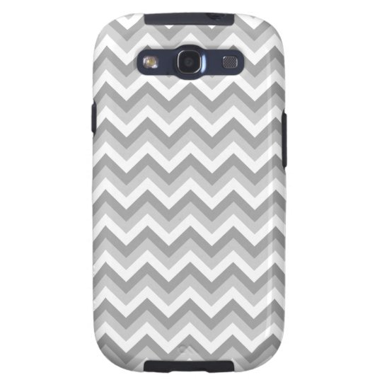 Gray and White Zigzag Pattern. Galaxy SIII Case