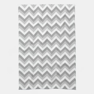 Gray and White Zigzag Pattern. Hand Towel
