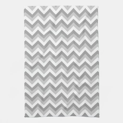 gray and white zigzag pattern hand towel zazzle. Black Bedroom Furniture Sets. Home Design Ideas