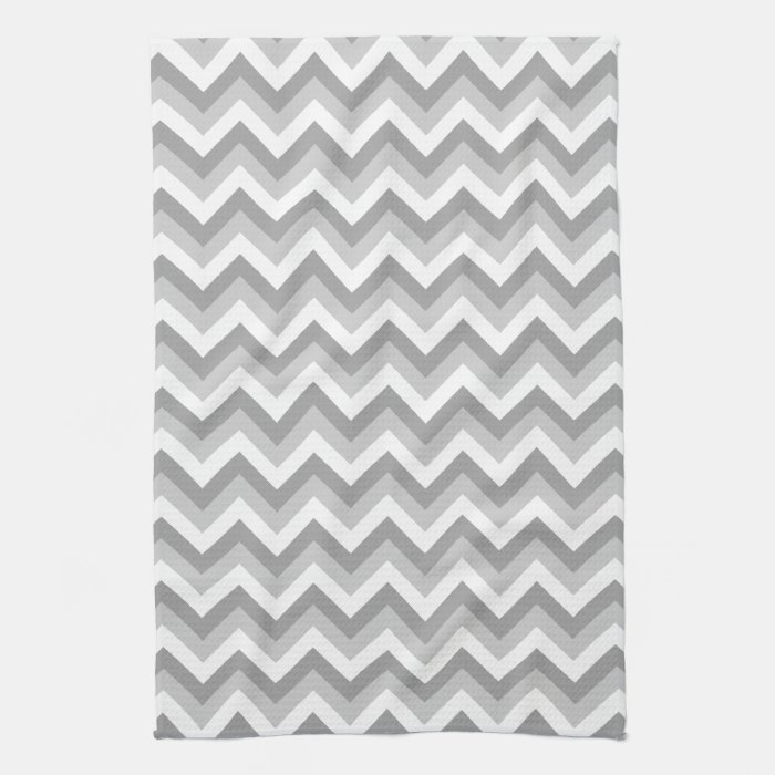 Gray And White Zigzag Pattern Hand Towel Zazzle