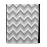 Gray and White Zigzag Pattern. iPad Folio Case