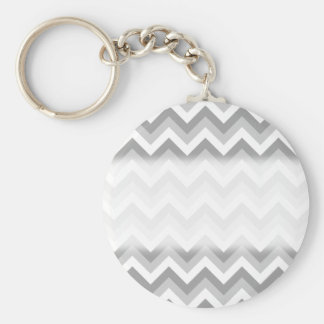 Gray and White Zigzag Pattern. Keychains