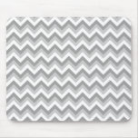 Gray and White Zigzag Pattern. Mouse Pad