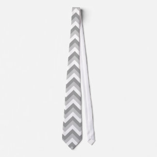 Gray and White Zigzag Pattern. Neck Tie